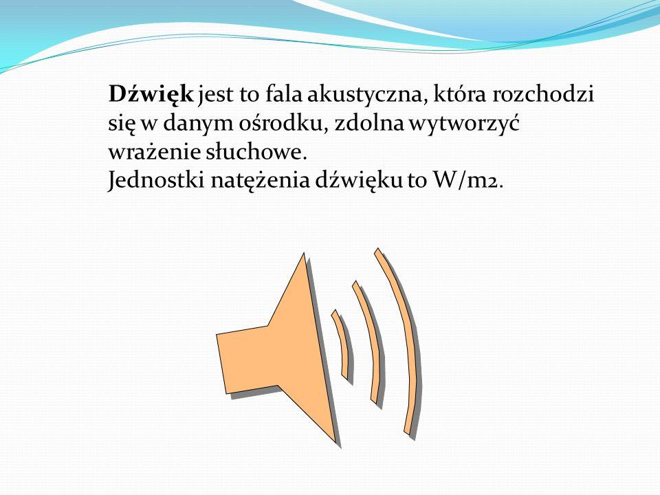 Dźwięk jest to fala akustyczna, która rozchodzi się w danym ośrodku, zdolna wytworzyć wrażenie słuchowe.