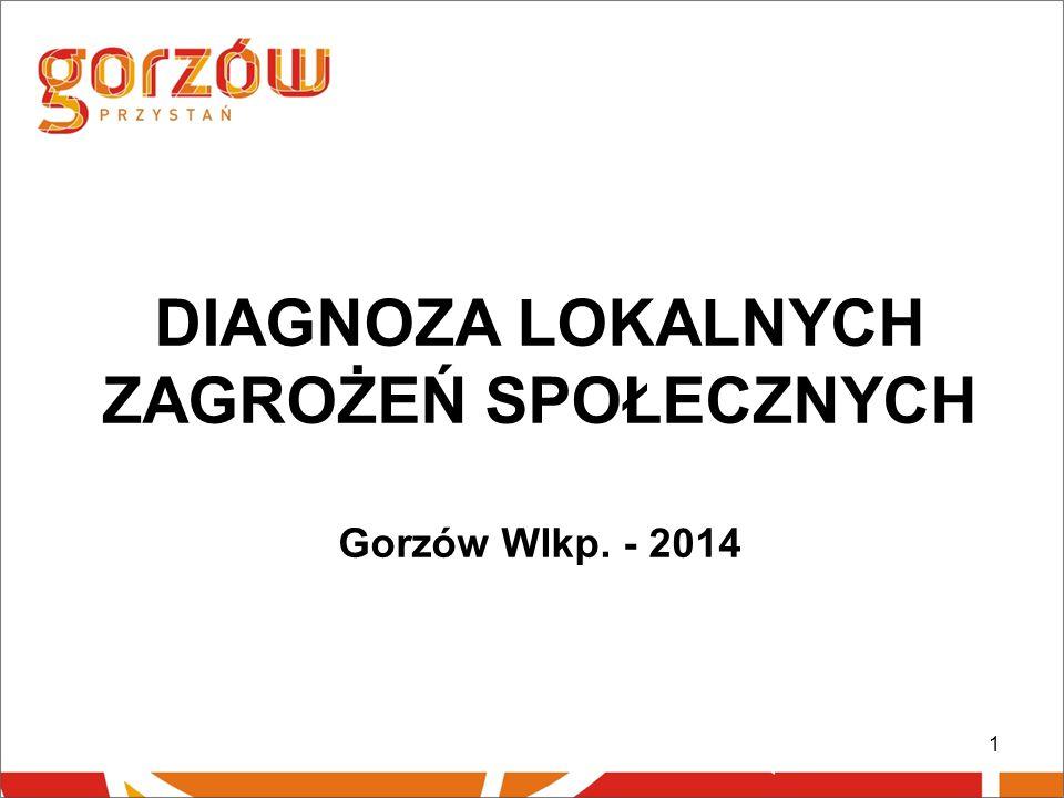 1 DIAGNOZA LOKALNYCH ZAGROŻEŃ SPOŁECZNYCH Gorzów Wlkp. - 2014