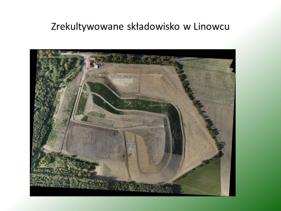 Zrekultywowane składowisko w Linowcu