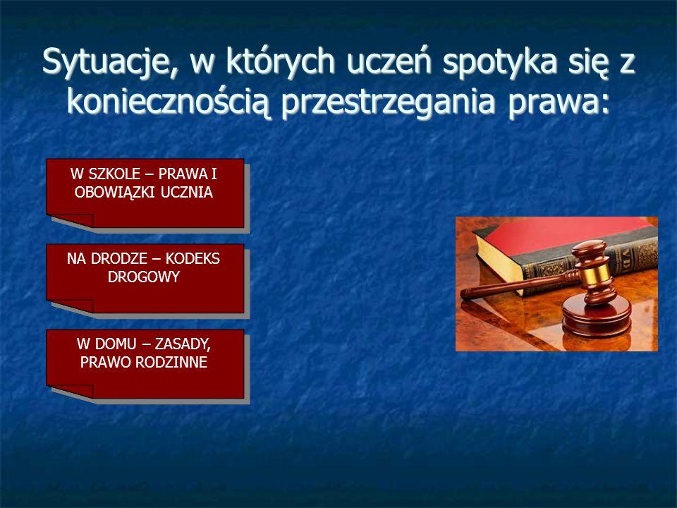 Co Ci grozi za łamanie prawa ? Przedstawienie podstawowych reguł prawa cywilnego i karnego.