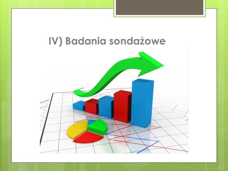 IV) Badania sondażowe