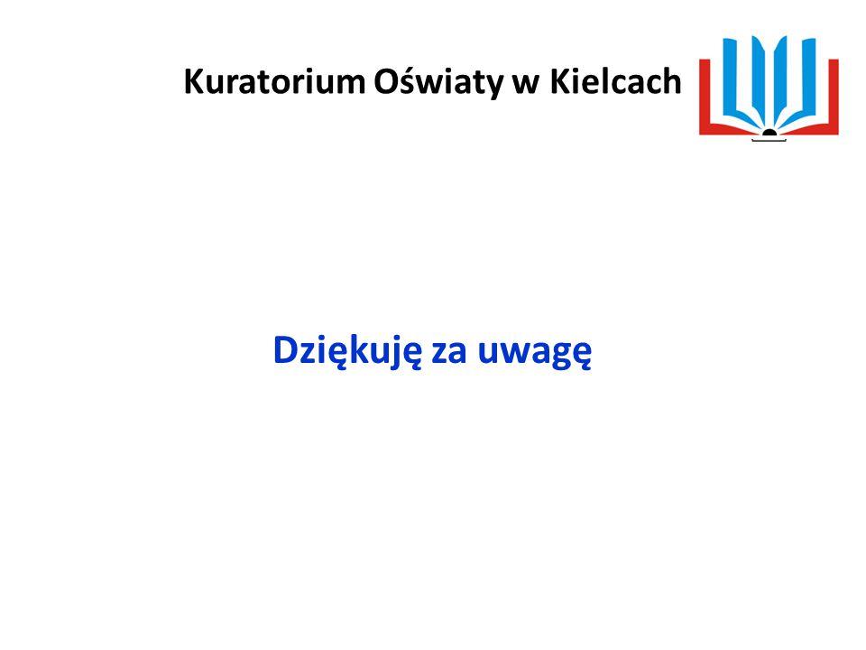 Kuratorium Oświaty w Kielcach Dziękuję za uwagę