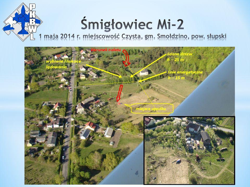 W dniu wypadku właściciel śmigłowca postanowił przebazować go z lądowiska w Zegrzu Pomorskim, gdzie był przechowywany przez okres zimowy, na teren prywatnej posesji w miejscowości Witkowo gm.
