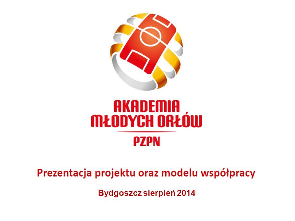 Podpisanie Umowy Trójstronnej Dotyczącej Realizacji Projektu Akademia Młodych Orłów Bydgoszcz 28 sierpnia 2014 Umowa: PZPN, K-P ZPN, Samorząd Miasta Bygoszcz