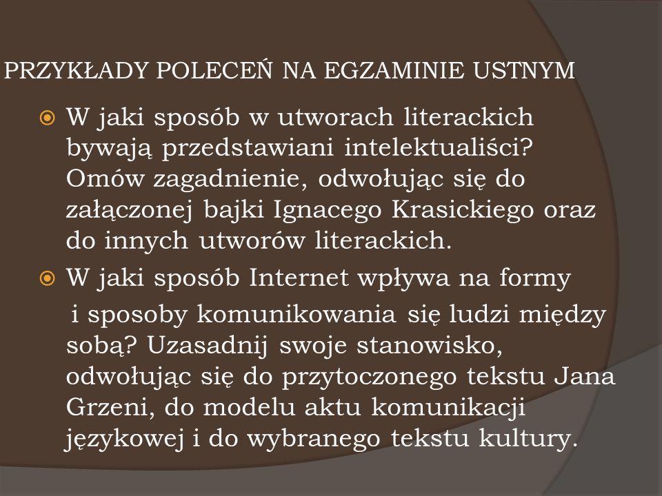 INTERPRETACJA TEKSTU POETYCKIEGO  Interpretacja tekstu poetyckiego winna przybrać formę dłuższej wypowiedzi argumentacyjnej.