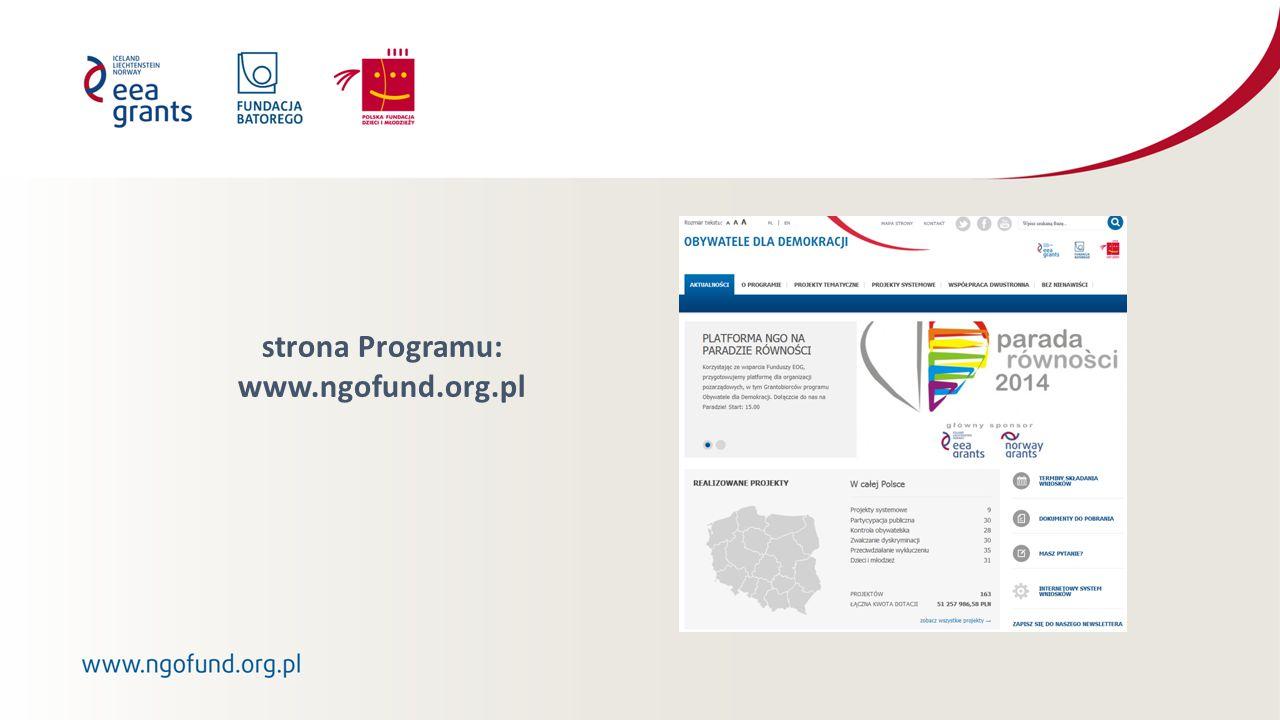 strona Programu: www.ngofund.org.pl