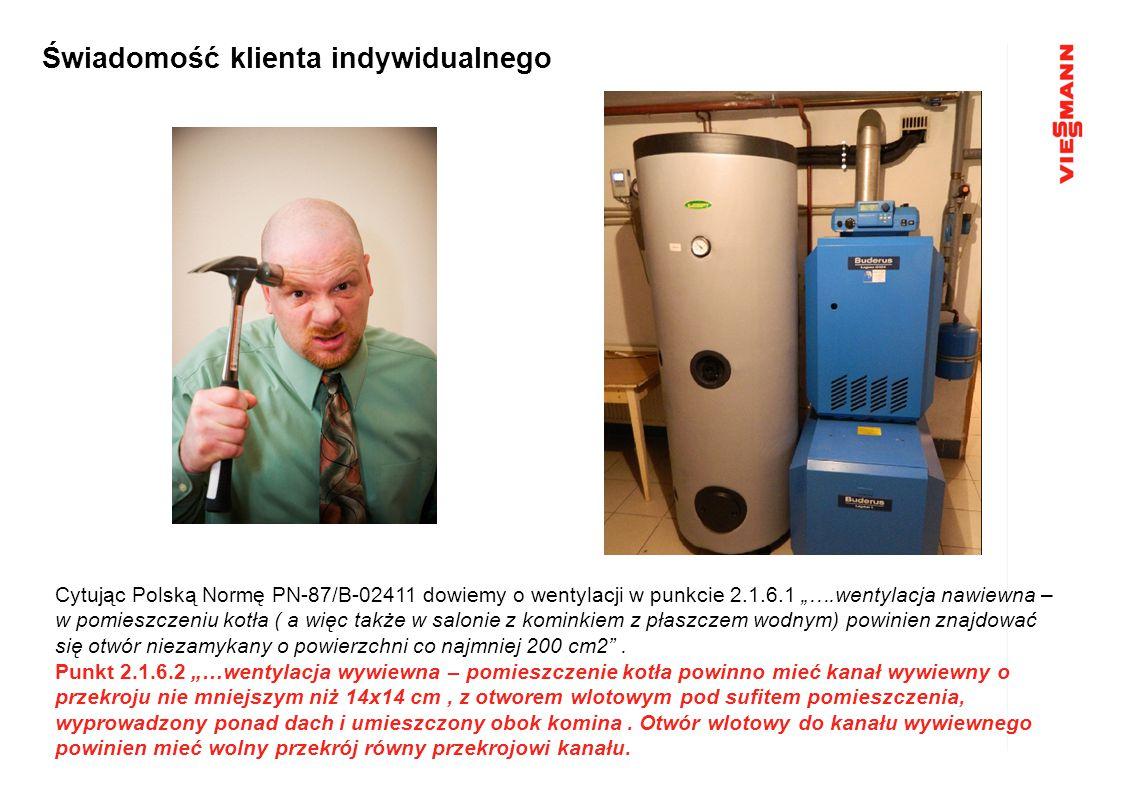 """Cytując Polską Normę PN-87/B-02411 dowiemy o wentylacji w punkcie 2.1.6.1 """"….wentylacja nawiewna – w pomieszczeniu kotła ( a więc także w salonie z ko"""