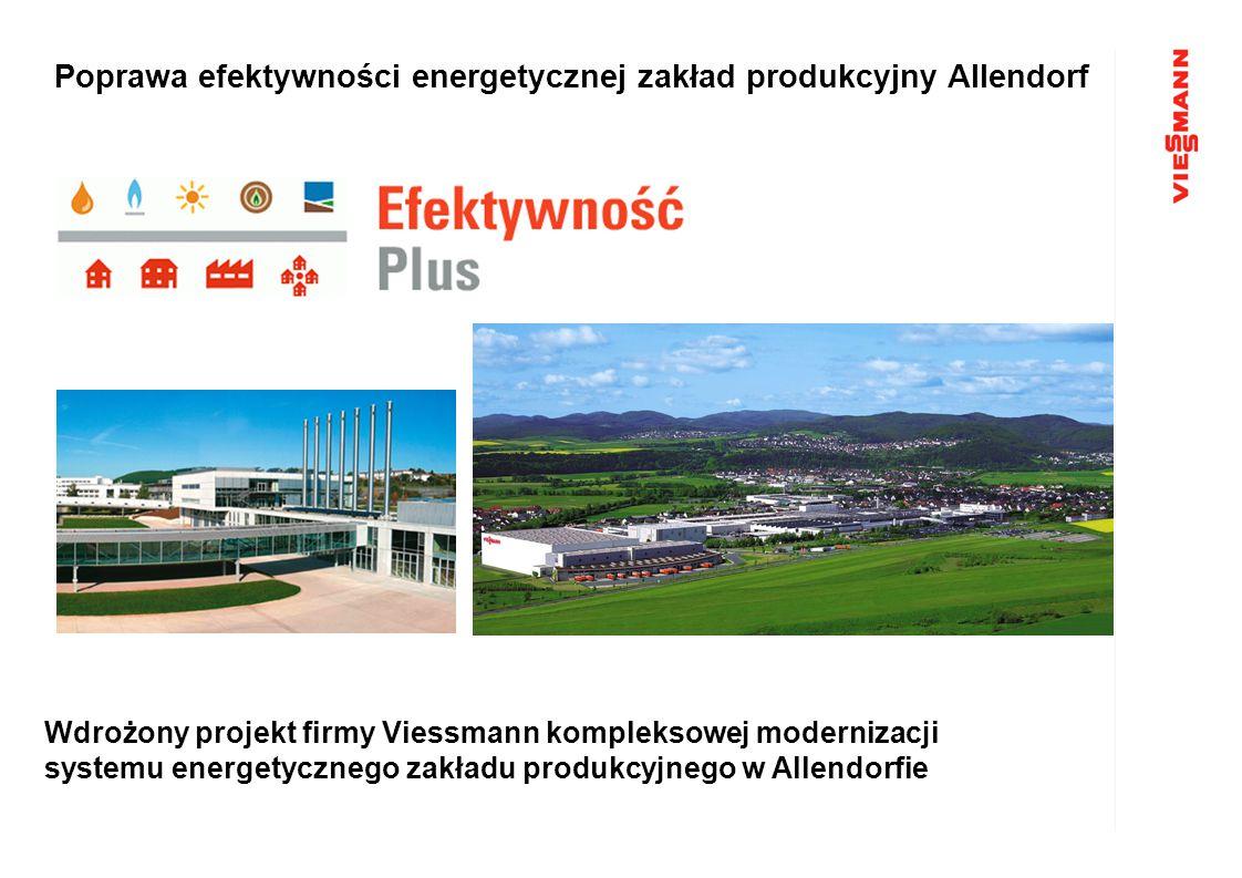 Poprawa efektywności energetycznej zakład produkcyjny Allendorf Wdrożony projekt firmy Viessmann kompleksowej modernizacji systemu energetycznego zakł