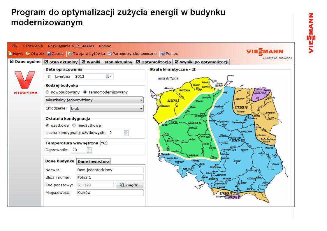Program do optymalizacji zużycia energii w budynku modernizowanym