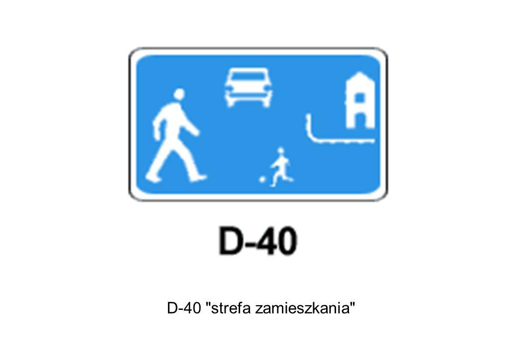 D-40 strefa zamieszkania