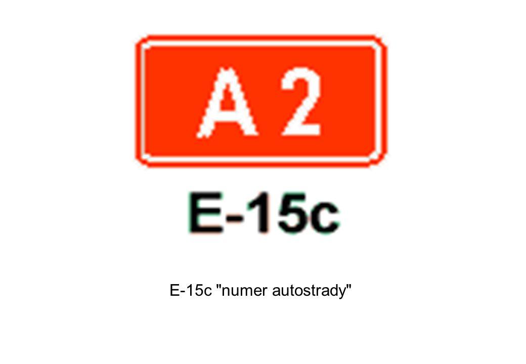 E-15c numer autostrady
