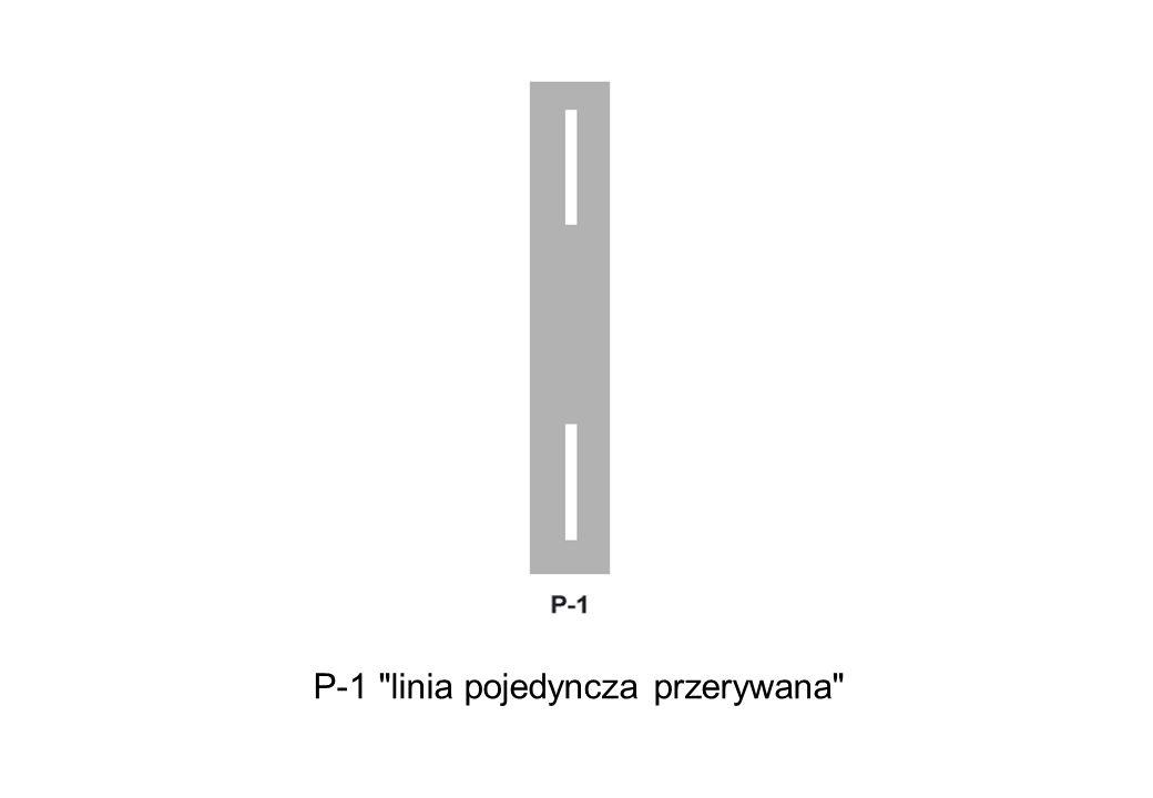 P-1 linia pojedyncza przerywana