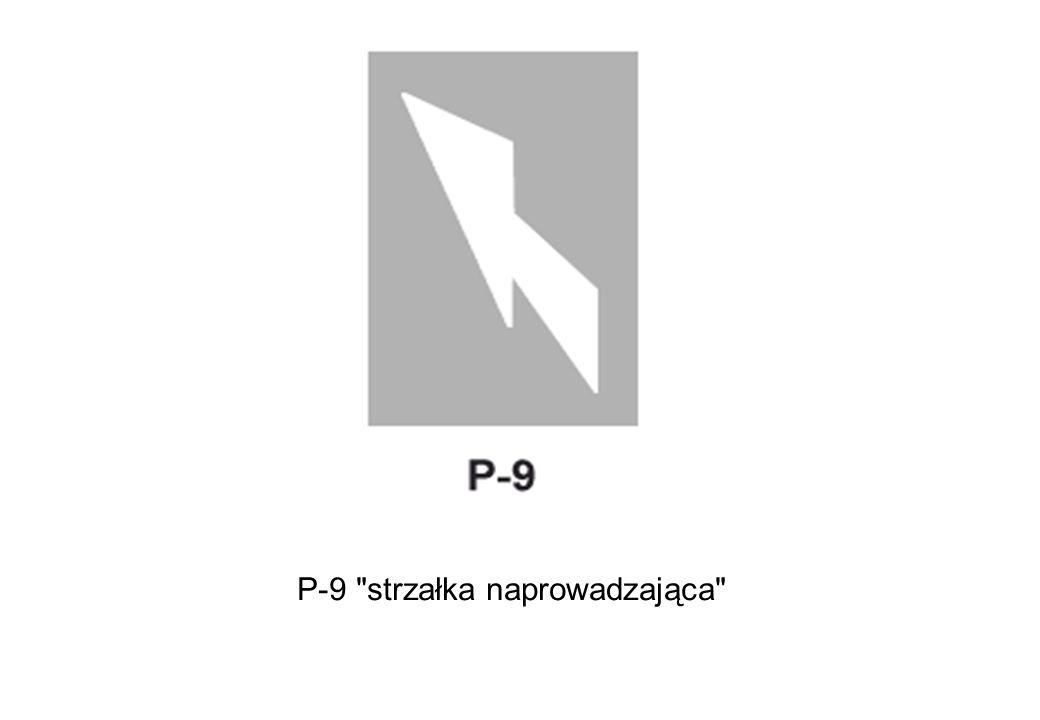 P-9 strzałka naprowadzająca