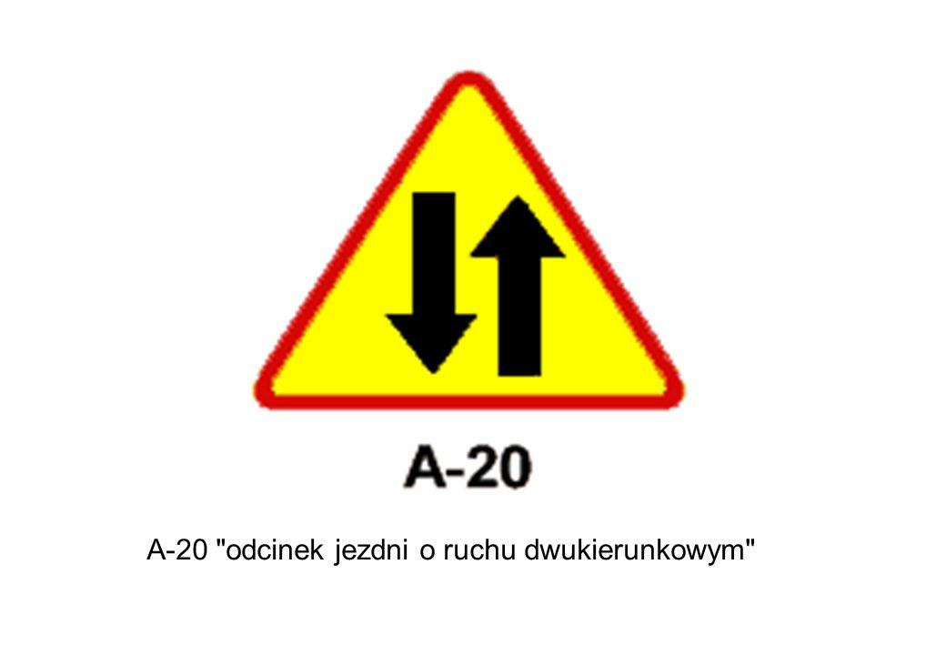 A-20 odcinek jezdni o ruchu dwukierunkowym