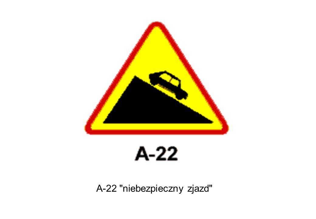 A-22 niebezpieczny zjazd