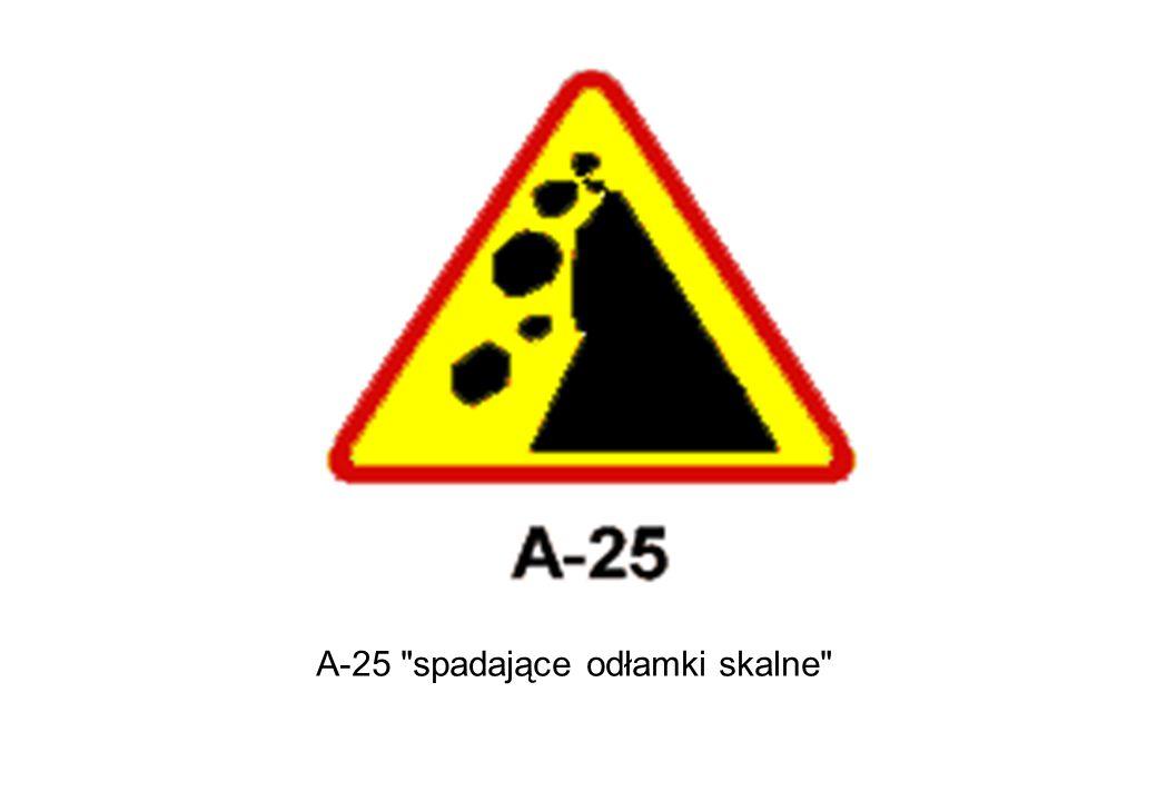 A-25 spadające odłamki skalne