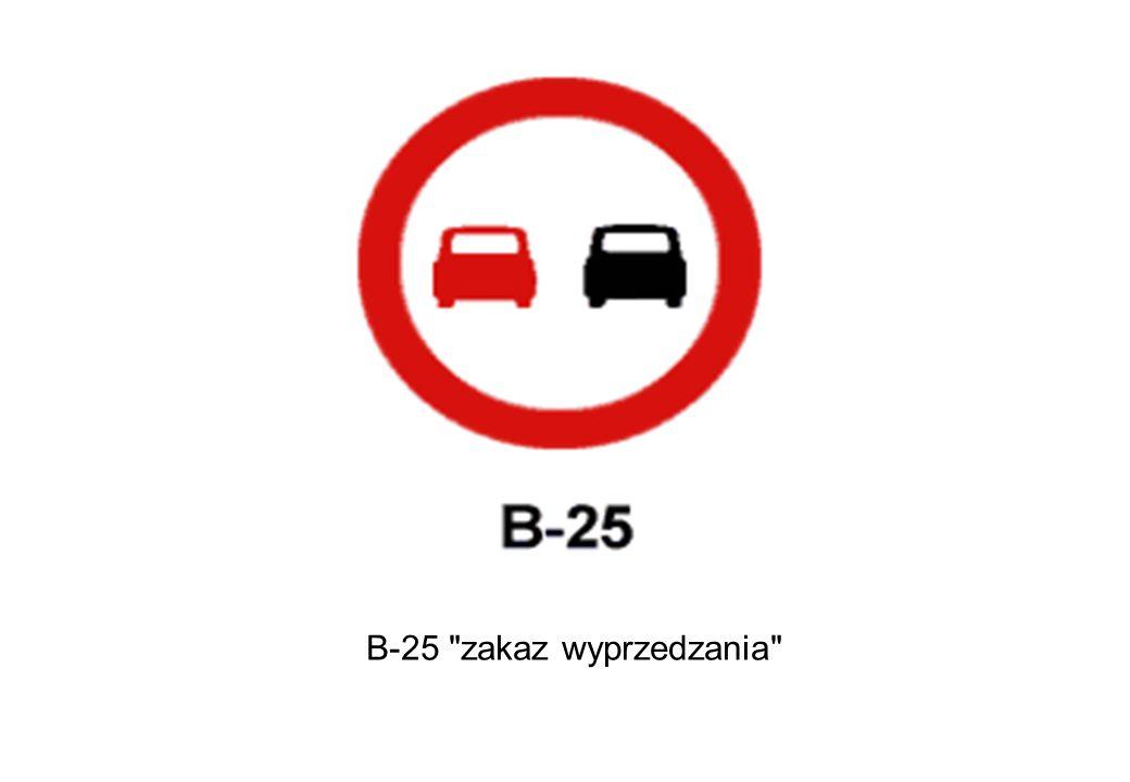 B-25 zakaz wyprzedzania