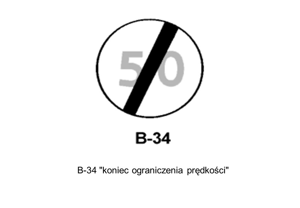 B-34 koniec ograniczenia prędkości