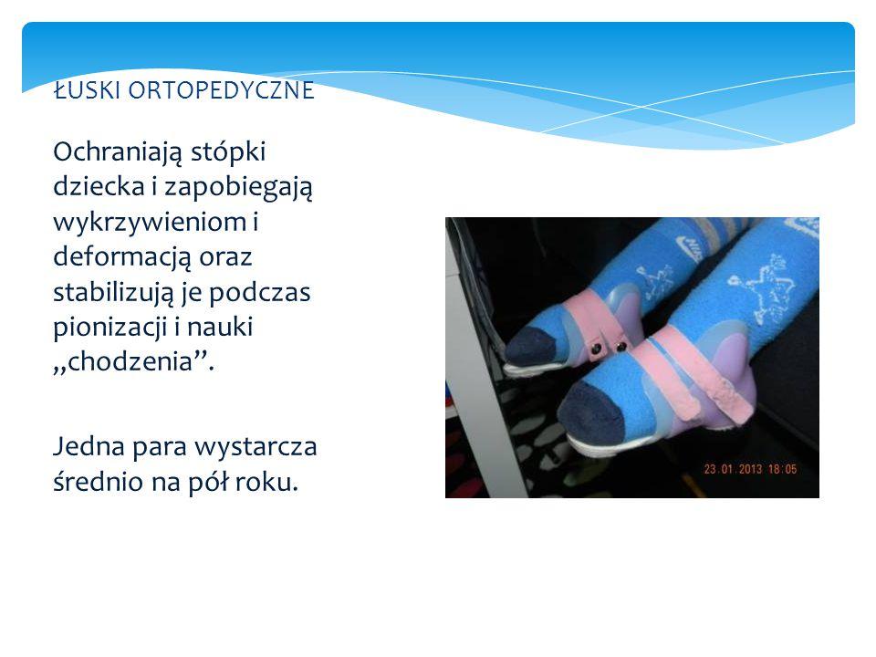 """Ochraniają stópki dziecka i zapobiegają wykrzywieniom i deformacją oraz stabilizują je podczas pionizacji i nauki """"chodzenia"""". Jedna para wystarcza śr"""