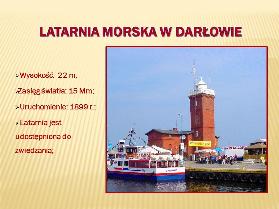  Wysokość: 22 m;  Zasięg światła: 15 Mm;  Uruchomienie: 1899 r.;  Latarnia jest udostępniona do zwiedzania;