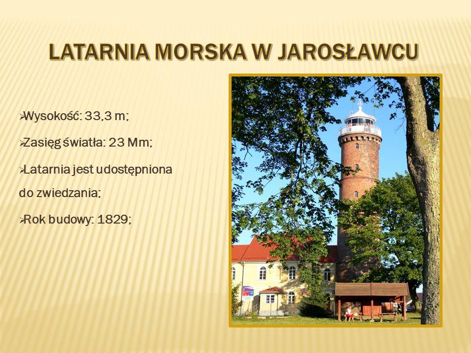  Wysokość: 33,3 m;  Zasięg światła: 23 Mm;  Latarnia jest udostępniona do zwiedzania;  Rok budowy: 1829;