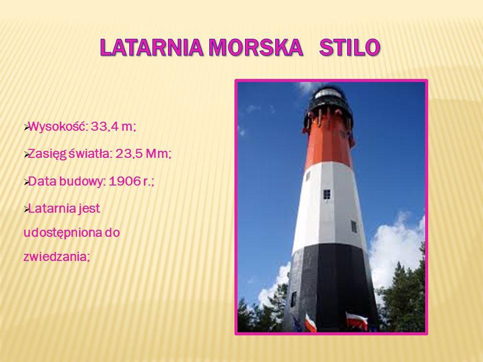  Wysokość: 33,4 m;  Zasięg światła: 23,5 Mm;  Data budowy: 1906 r.;  Latarnia jest udostępniona do zwiedzania;