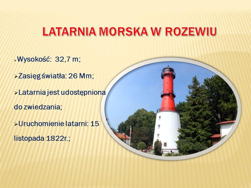  Wysokość: 41,5 m;  Rok budowy: 1942r.;  Zasięg światła: 17 Mm;  Latarnia została udostępniona do zwiedzania;