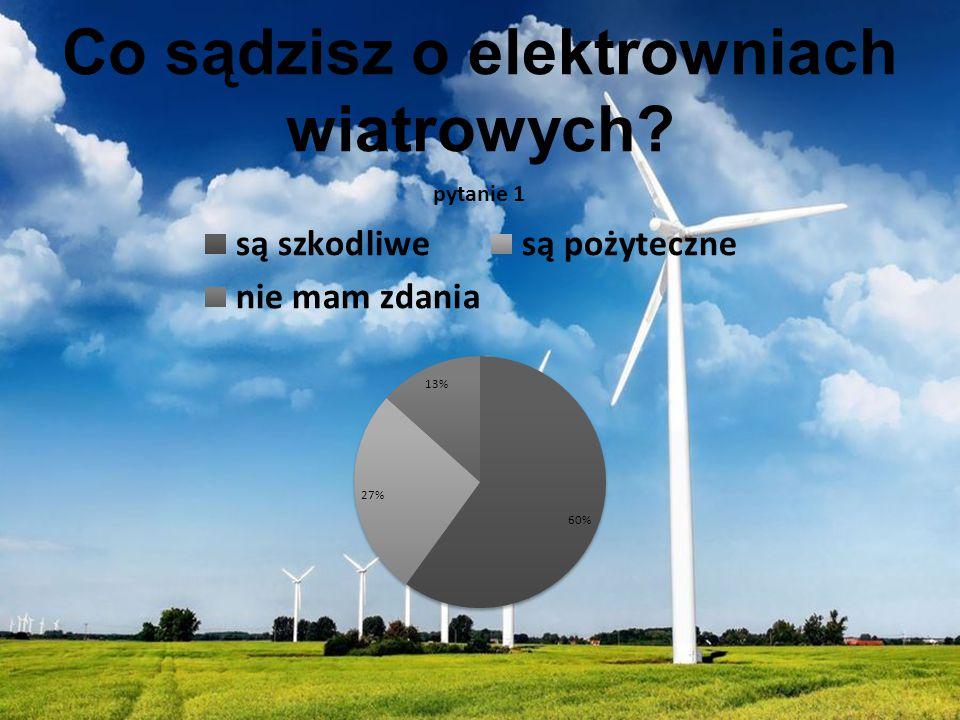 Co sądzisz o elektrowniach wiatrowych?