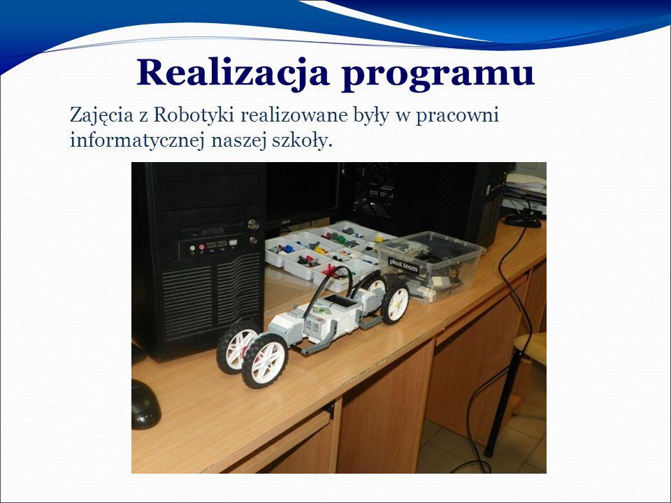 Realizacja programu Zajęcia z Robotyki realizowane były w pracowni informatycznej naszej szkoły.