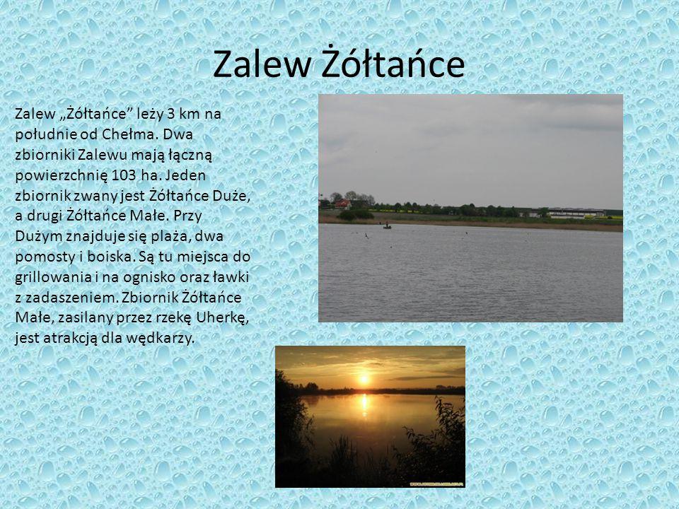 """Zalew Żółtańce Zalew """"Żółtańce"""" leży 3 km na południe od Chełma. Dwa zbiorniki Zalewu mają łączną powierzchnię 103 ha. Jeden zbiornik zwany jest Żółta"""