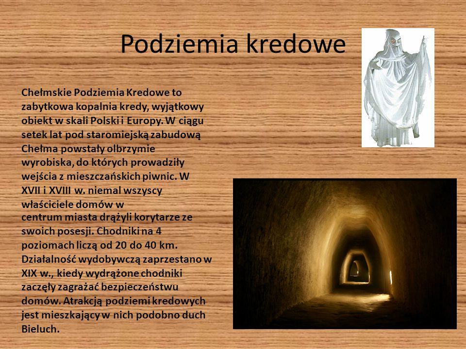 Podziemia kredowe Chełmskie Podziemia Kredowe to zabytkowa kopalnia kredy, wyjątkowy obiekt w skali Polski i Europy. W ciągu setek lat pod staromiejsk