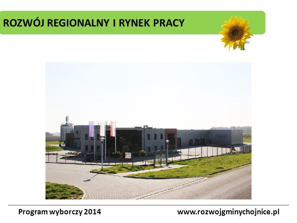 ROZWÓJ REGIONALNY I RYNEK PRACY Program wyborczy 2014www.rozwojgminychojnice.pl