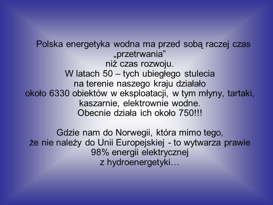 """Polska energetyka wodna ma przed sobą raczej czas """"przetrwania niż czas rozwoju."""