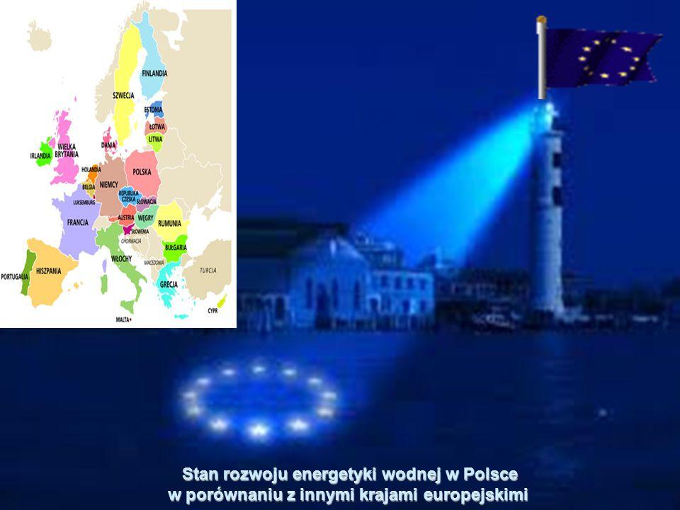 Stan rozwoju energetyki wodnej w Polsce w porównaniu z innymi krajami europejskimi Stan rozwoju energetyki wodnej w Polsce w porównaniu z innymi krajami europejskimi