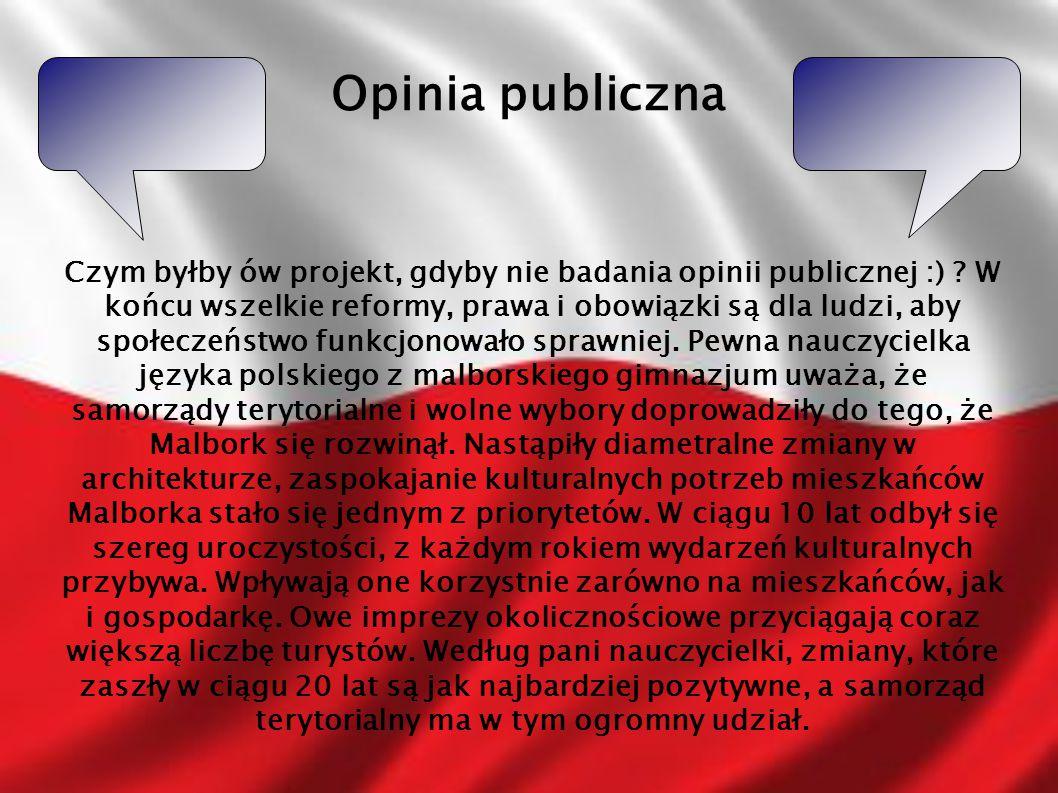 Opinia publiczna Czym byłby ów projekt, gdyby nie badania opinii publicznej :) ? W końcu wszelkie reformy, prawa i obowiązki są dla ludzi, aby społecz