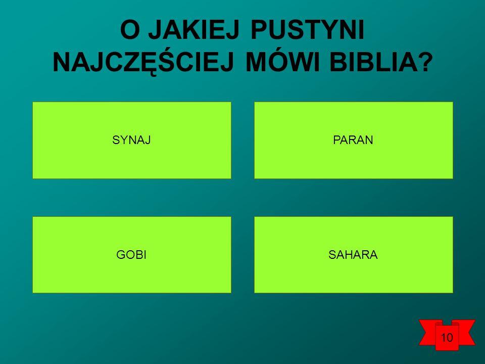 SYNAJ SAHARAGOBI PARAN O JAKIEJ PUSTYNI NAJCZĘŚCIEJ MÓWI BIBLIA? 10