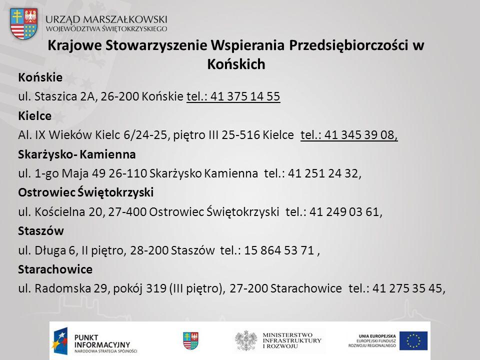 Krajowe Stowarzyszenie Wspierania Przedsiębiorczości w Końskich Końskie ul.