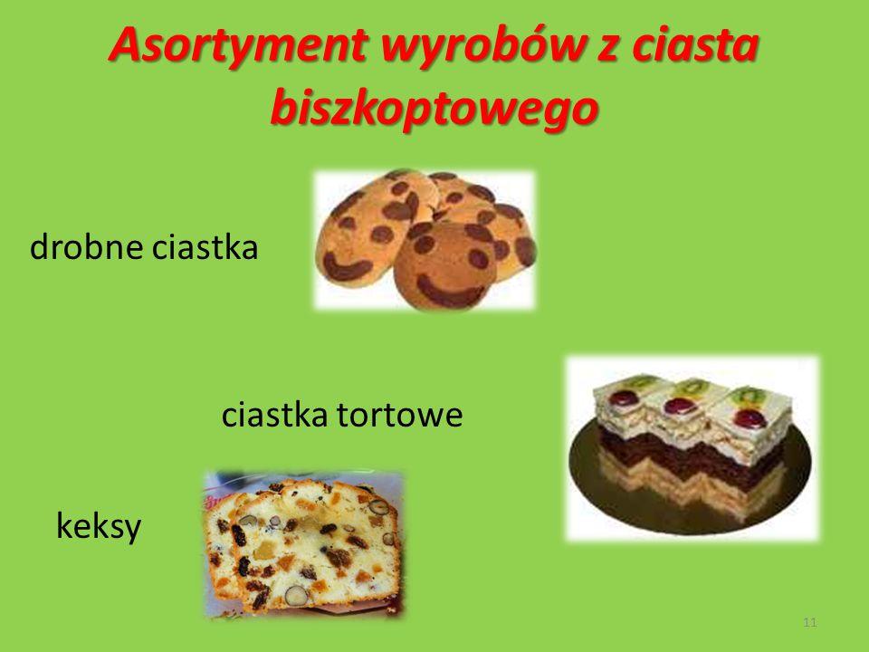 Asortyment wyrobów z ciasta biszkoptowego drobne ciastka ciastka tortowe keksy 11