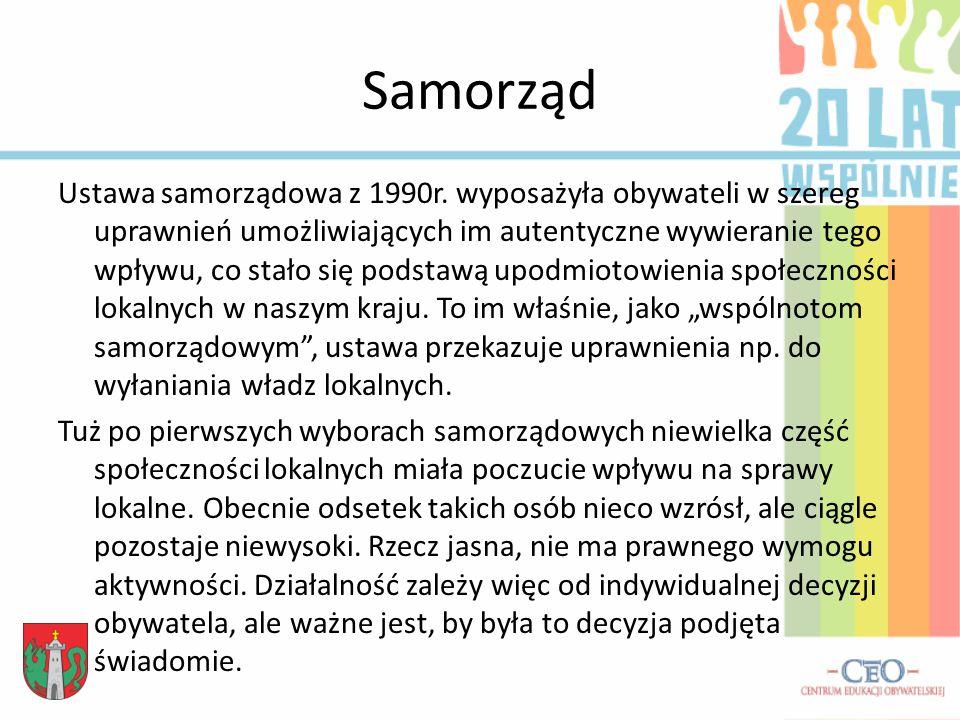 Samorząd Ustawa samorządowa z 1990r.