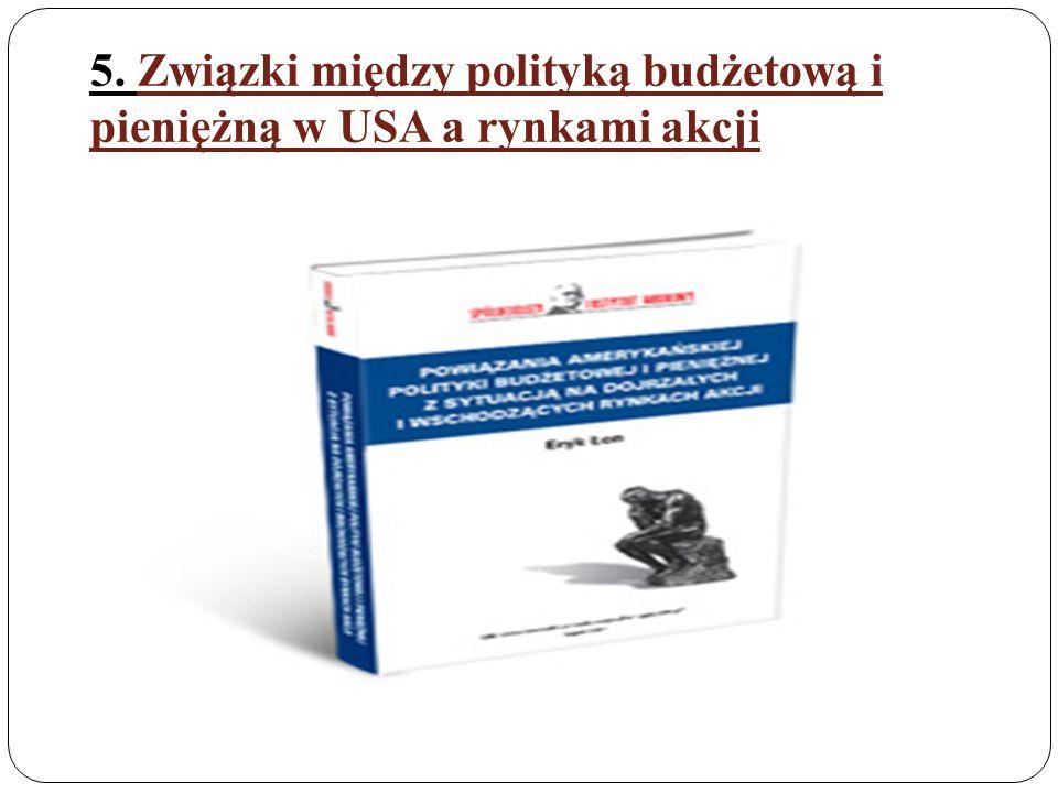 5. Związki między polityką budżetową i pieniężną w USA a rynkami akcji