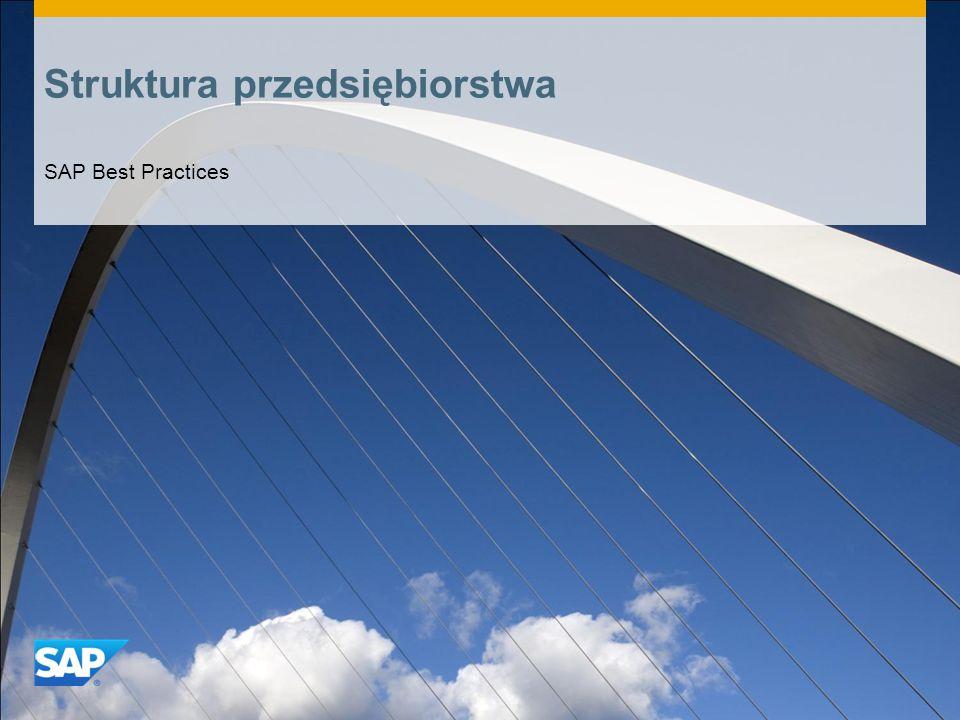 Struktura przedsiębiorstwa SAP Best Practices