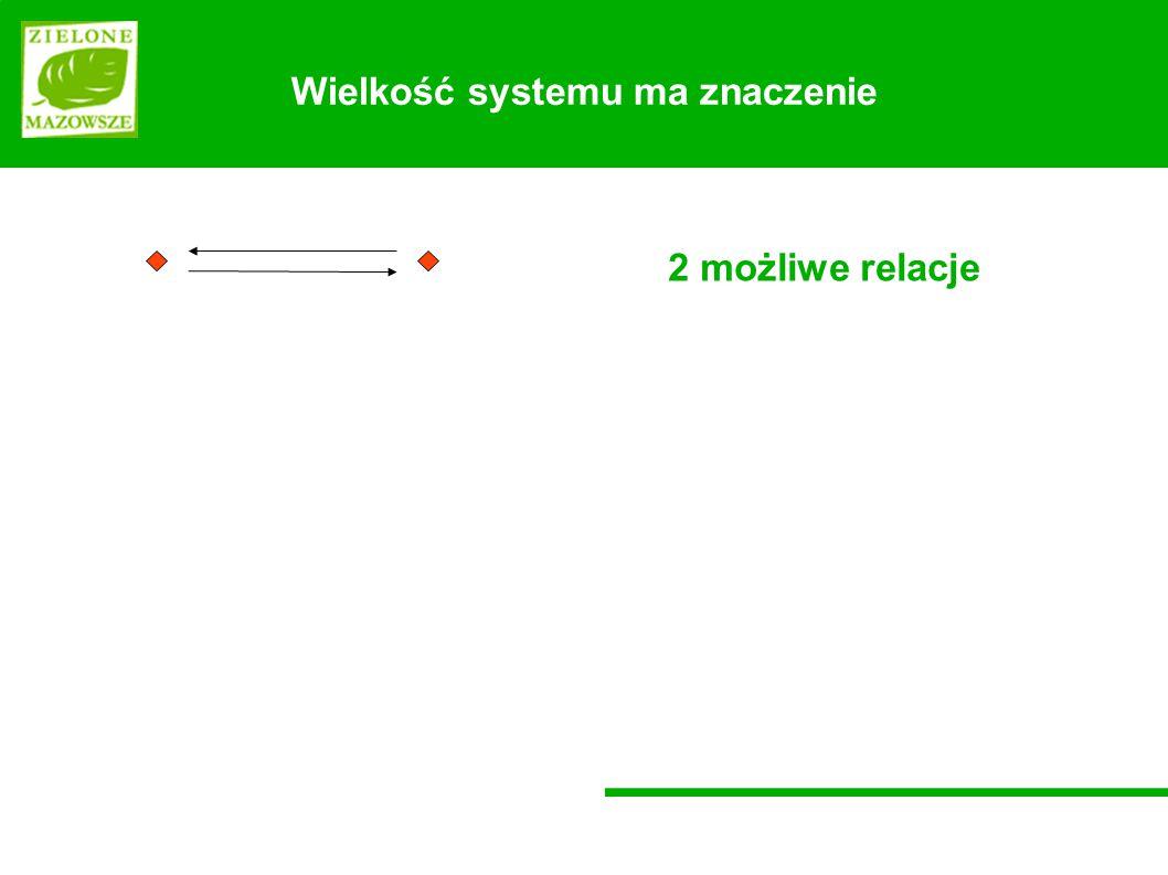 Wielkość systemu ma znaczenie 2 możliwe relacje