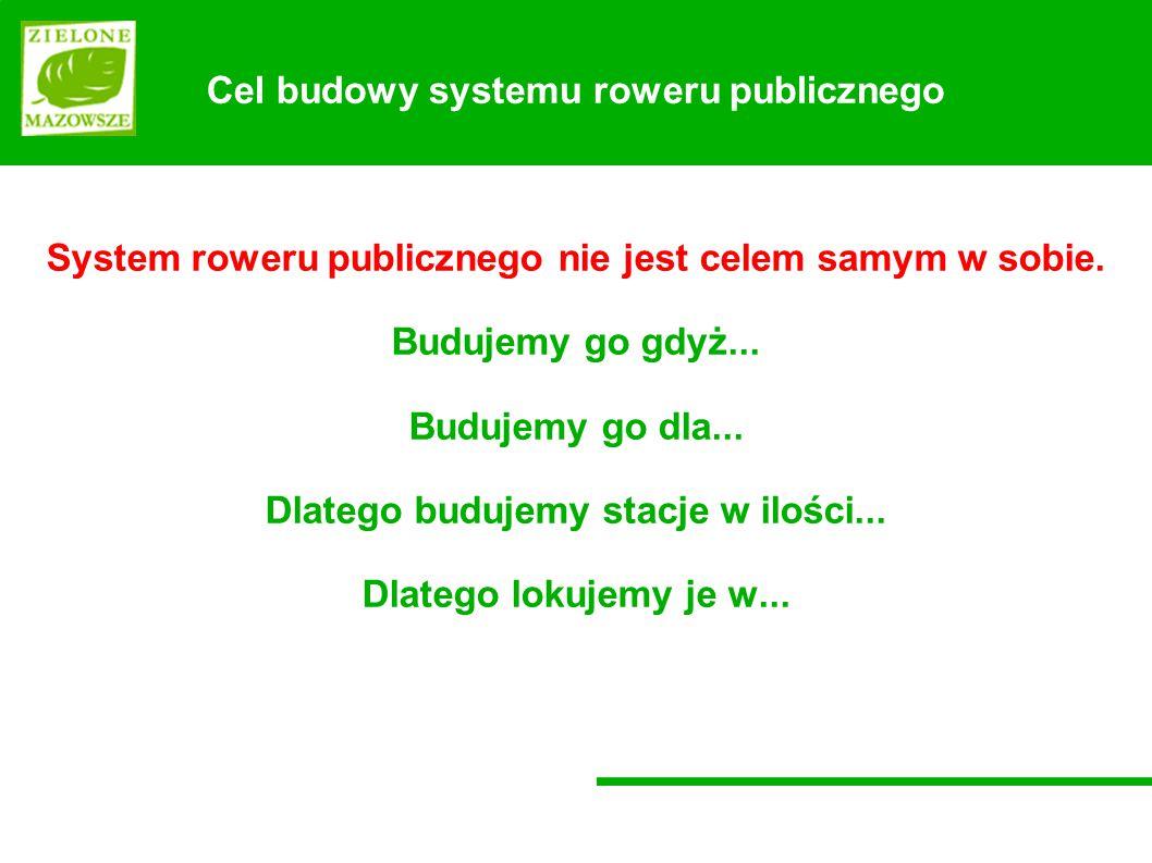 System roweru publicznego nie jest celem samym w sobie.