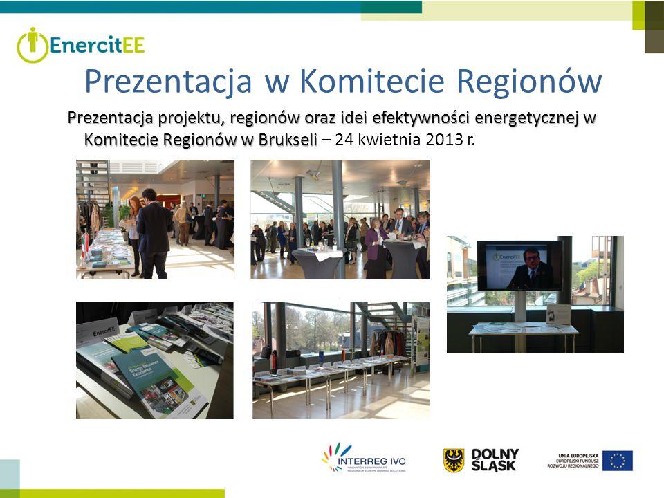 Prezentacja projektu, regionów oraz idei efektywności energetycznej w Komitecie Regionów w Brukseli Prezentacja projektu, regionów oraz idei efektywno
