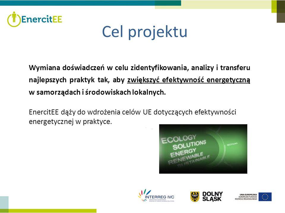 Cel projektu Wymiana doświadczeń w celu zidentyfikowania, analizy i transferu najlepszych praktyk tak, aby zwiększyć efektywność energetyczną w samorz