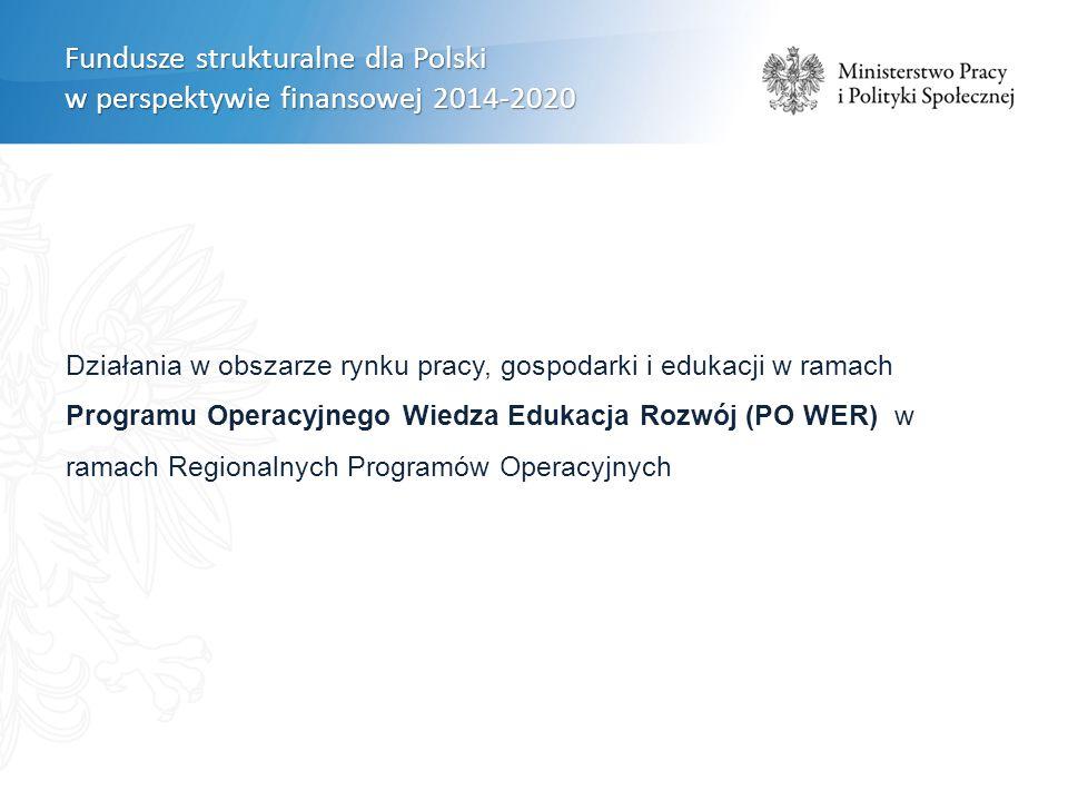 Działania w ramach PO WER będą służyły rozwiązywaniu konkretnych obszarów problemowych wskazanych w ramach PO WER nie będą polegały na bezpośrednio wsparciu samych instytucji (NGO, partnerów społecznych) NGO w PO WER 2014 - 2020