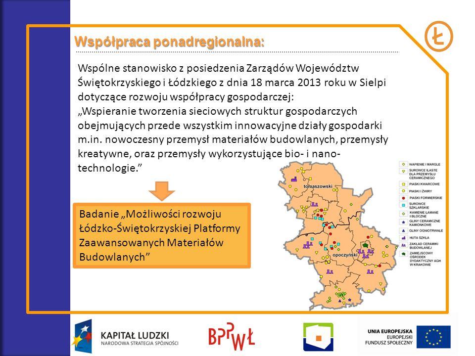 Współpraca ponadregionalna: Wspólne stanowisko z posiedzenia Zarządów Województw Świętokrzyskiego i Łódzkiego z dnia 18 marca 2013 roku w Sielpi dotyc
