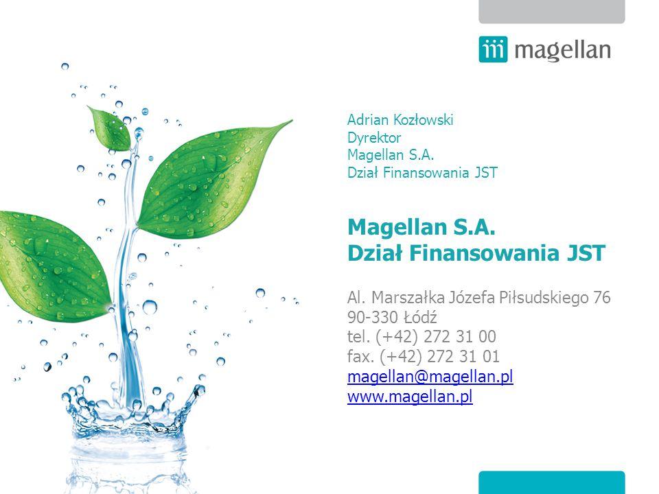 Al. Marszałka Józefa Piłsudskiego 76 90-330 Łódź tel. (+42) 272 31 00 fax. (+42) 272 31 01 magellan@magellan.pl www.magellan.pl magellan@magellan.pl w