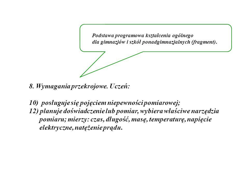 8.Wymagania przekrojowe.