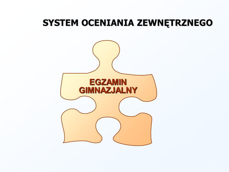 3 EGZAMIN GIMNAZJALNY SYSTEM OCENIANIA ZEWNĘTRZNEGO